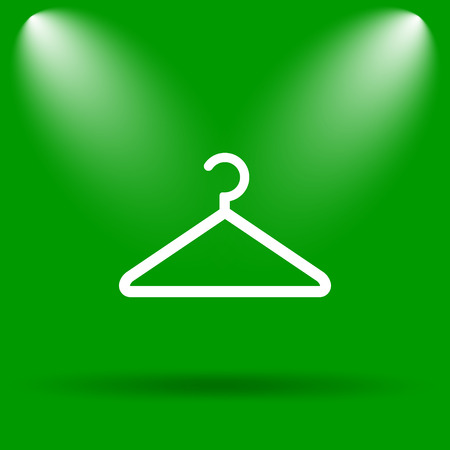 clothing rack: Hanger icon. Internet button on green background.