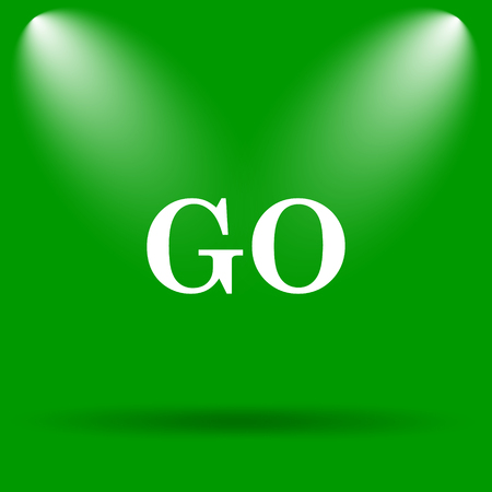 proceed: GO icon. Internet button on green background.