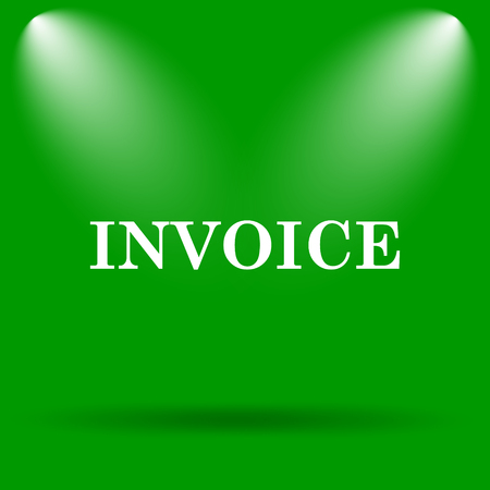 payable: Invoice icon. Internet button on green background.