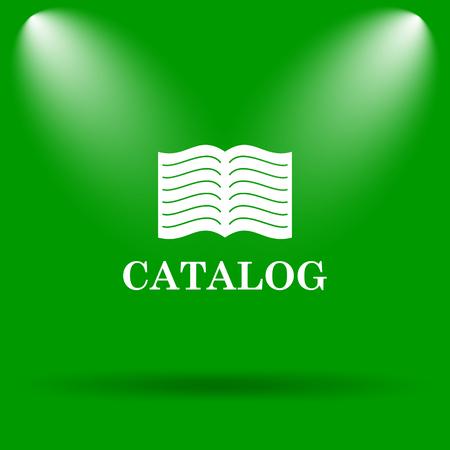 catalog: Catalog icon. Internet button on green background. Stock Photo