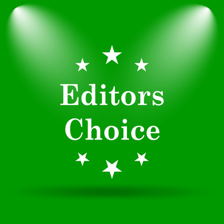 editors: Editors choice icon. Internet button on green background. Stock Photo
