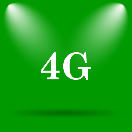 3g: 4G icon. Internet button on green background.