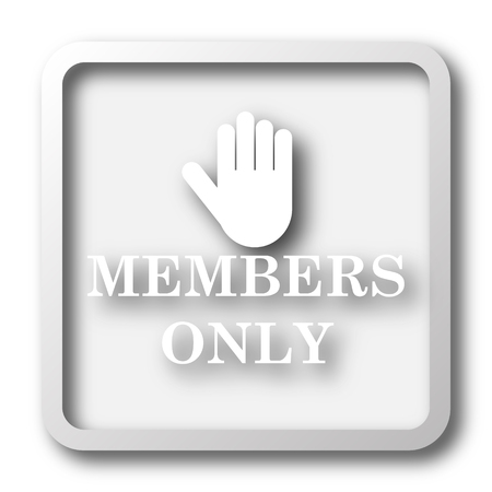 closed club: Members only icon. Internet button on white background.