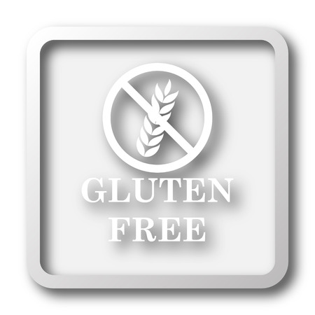 preservatives: Gluten free icon. Internet button on white background.