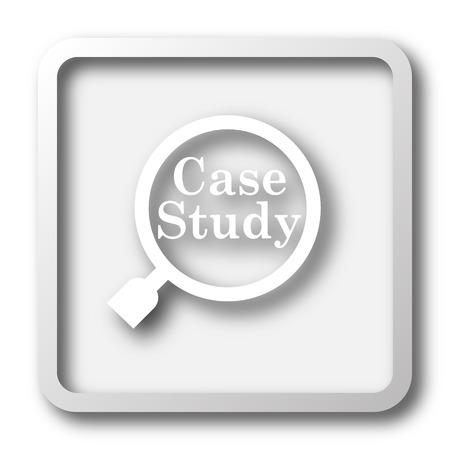 cases: Case study icon. Internet button on white background.