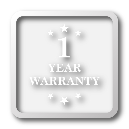 1 year warranty: 1 year warranty icon. Internet button on white background.