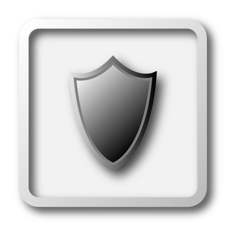 guard  guardian: Shield icon. Internet button on white background.