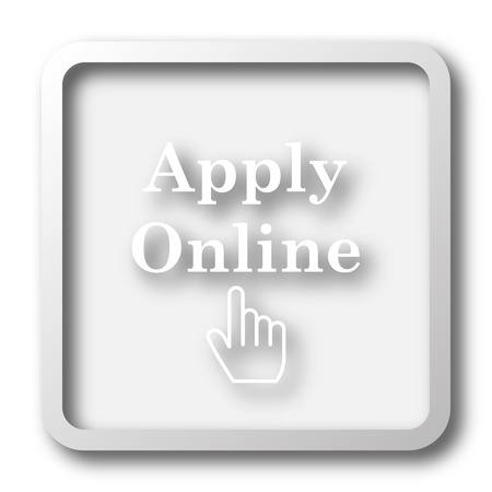 apply: Apply online icon. Internet button on white background.