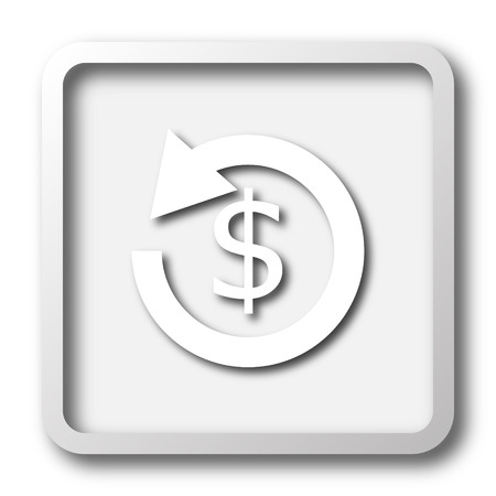 refunds: Refund icon. Internet button on white background.