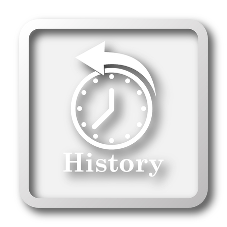 history background: History icon. Internet button on white background.