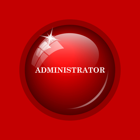 administrator: Administrator icon. Internet button on red background.