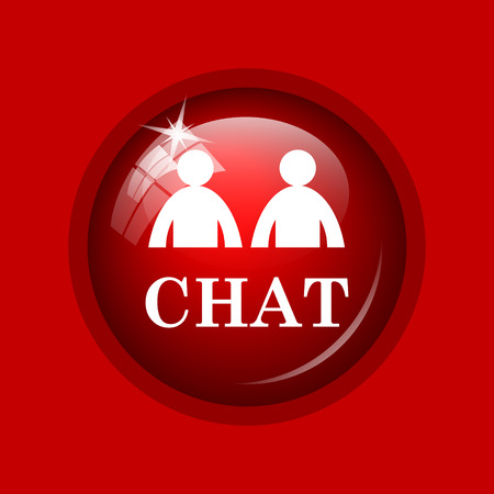 instant message: Chat icon. Internet button on red background.