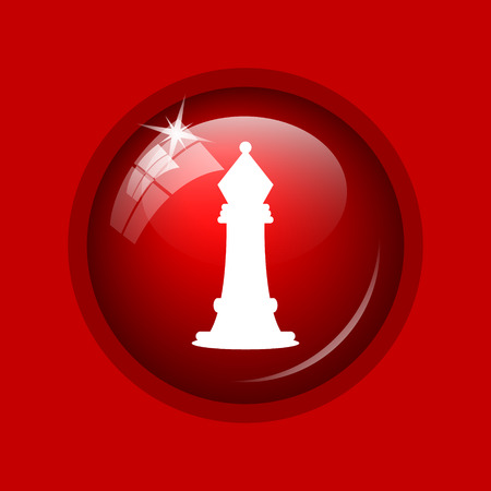 capturing: Chess icon. Internet button on red background.