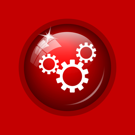 gearing: Settings icon. Internet button on red background.