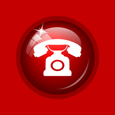 phone button: Phone icon. Internet button on red background.