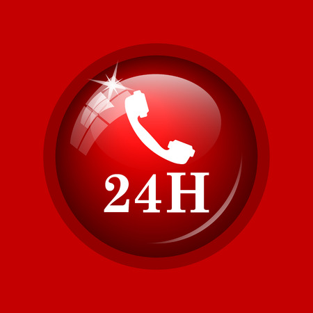 phone button: 24H phone icon. Internet button on red background.