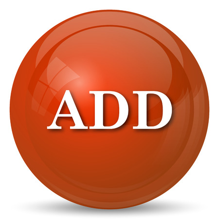 add icon: Add icon. Internet button on white background. Stock Photo
