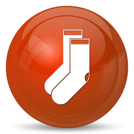 white stockings: Socks icon. Internet button on white background.