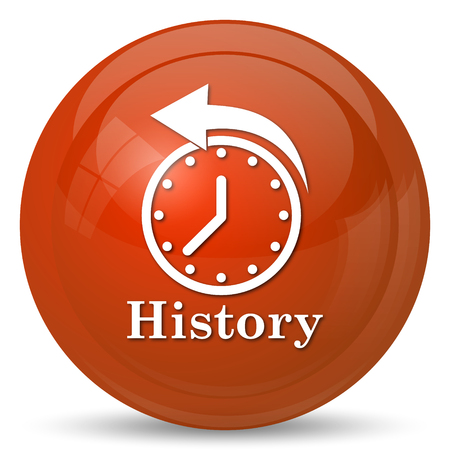 history icon: History icon. Internet button on white background.