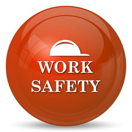 safety: Work safety icon. Internet button on white background.