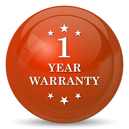 1 year warranty: 1 year warranty icon. Internet button on white background.