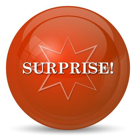 astonishment: Surprise icon. Internet button on white background. Stock Photo