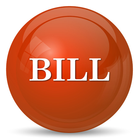 tax office: Bill icon. Internet button on white background.