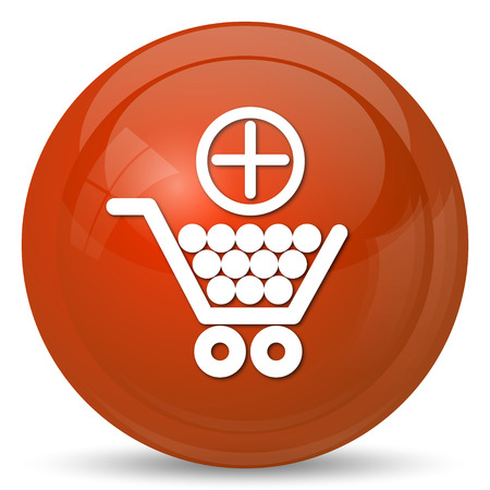 add to cart: Add to shopping cart icon. Internet button on white background.