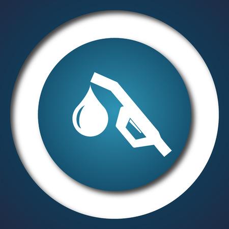 benzine: Gasoline pump nozzle icon. Internet button on white background. Stock Photo