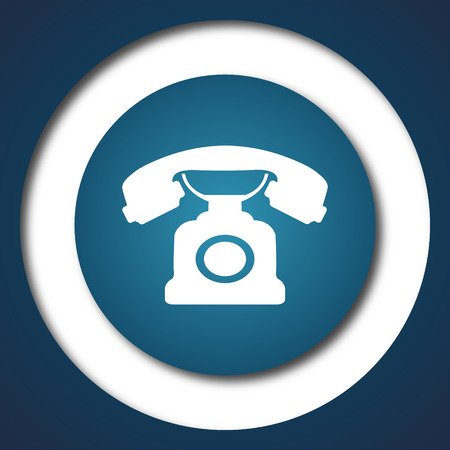 phone button: Phone icon. Internet button on white background. Stock Photo