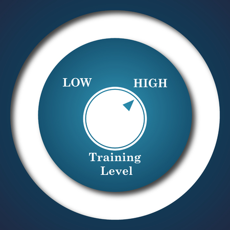 cognition: Training level icon. Internet button on white background. Stock Photo