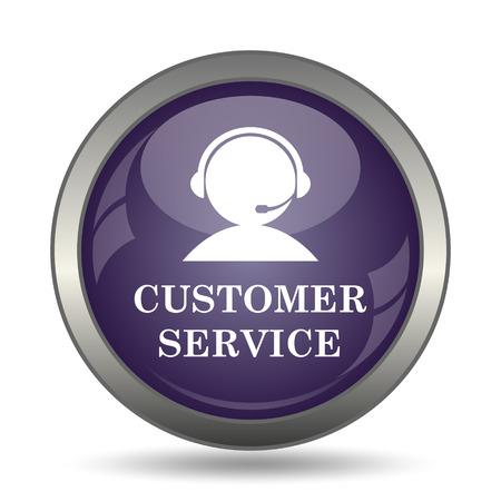 online service: Customer service icon. Internet button on white background. Stock Photo