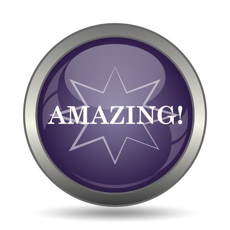 mauve: Amazing icon. Internet button on white background.