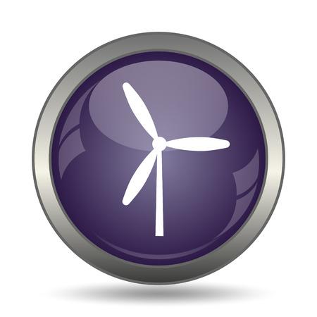 alternate: Windmill icon. Internet button on white background.