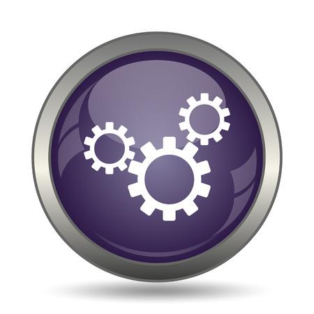 Instellingen icoon. Internet-knop op witte achtergrond.