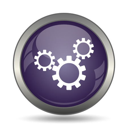 Settings icon. Internet button on white background. Stock Photo