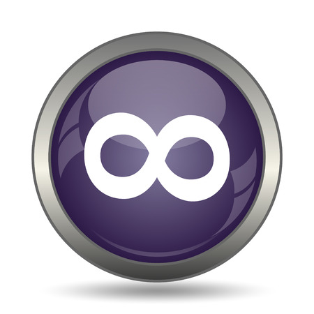 infinity sign: Infinity sign icon. Internet button on white background.