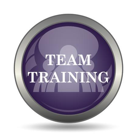 course development: Team training icon. Internet button on white background.