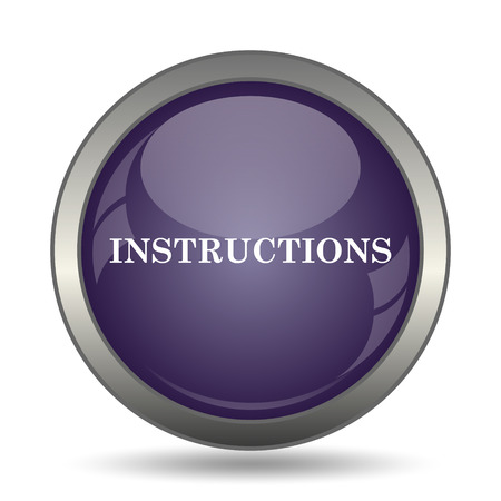 hints: Instructions icon. Internet button on white background.