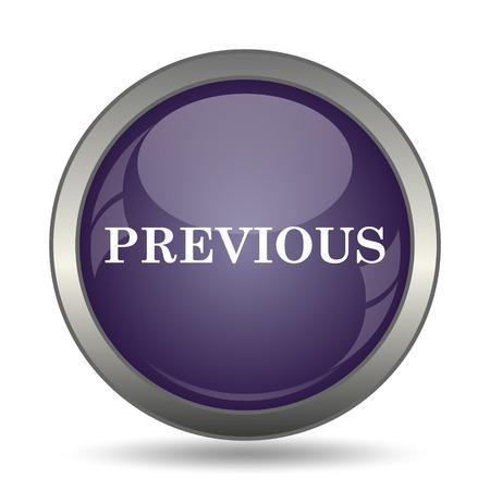mauve: Previous icon. Internet button on white background. Stock Photo