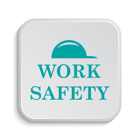 white work: Work safety icon. Internet button on white background.
