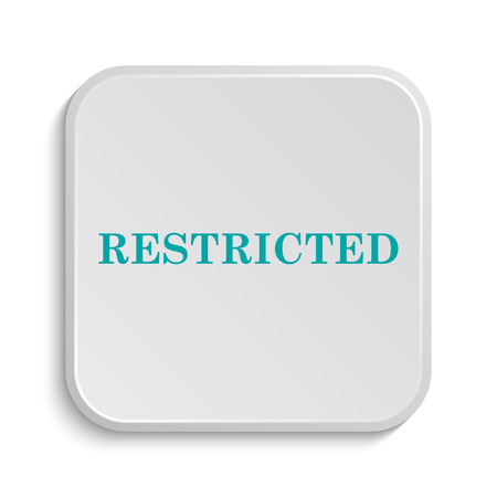 restricted: Restricted icon. Internet button on white background. Stock Photo