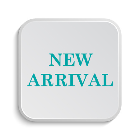 arrival: New arrival icon. Internet button on white background.
