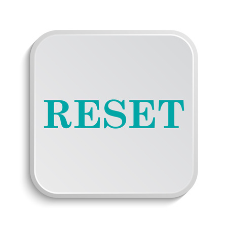revision: Reset icon. Internet button on white background.