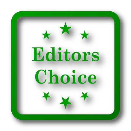 editors: Editors choice icon. Internet button on white background.