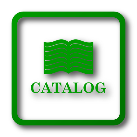 catalog: Catalog icon. Internet button on white background.