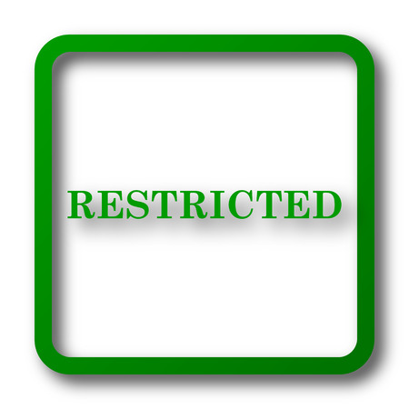 disallowed: Restricted icon. Internet button on white background. Stock Photo