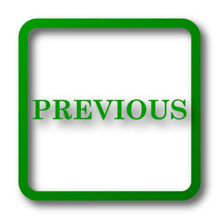 slideshow: Previous icon. Internet button on white background. Stock Photo