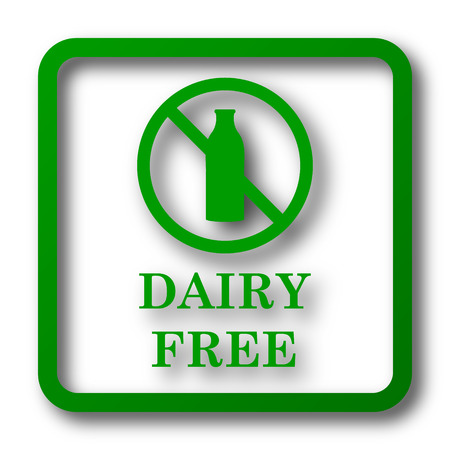 intolerant: Dairy free icon. Internet button on white background. Stock Photo