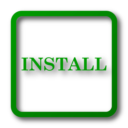 install: Install icon. Internet button on white background.